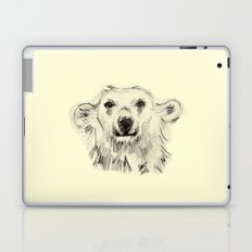 Polar Bear Smiling Black and White Laptop & iPad Skin