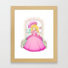 Peach's Garden Framed Art Print