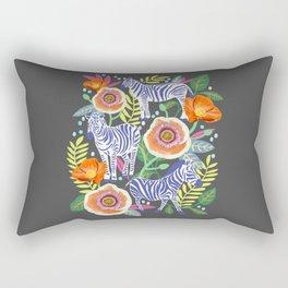 Zebra Idea, zebra print, animal print, flower print  Rectangular Pillow