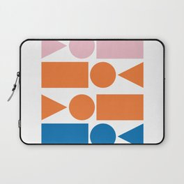 Retro Beach Vibes Geometry Laptop Sleeve