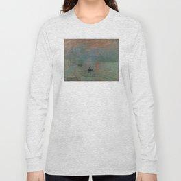 Claude Monet - Impression, Sunrise Long Sleeve T-shirt