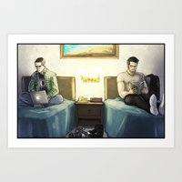 sterek Art Prints featuring Sterek:  Mamihlapinatapai by lolbatty