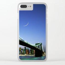 New York City Magic: Brooklyn Bridge Clear iPhone Case