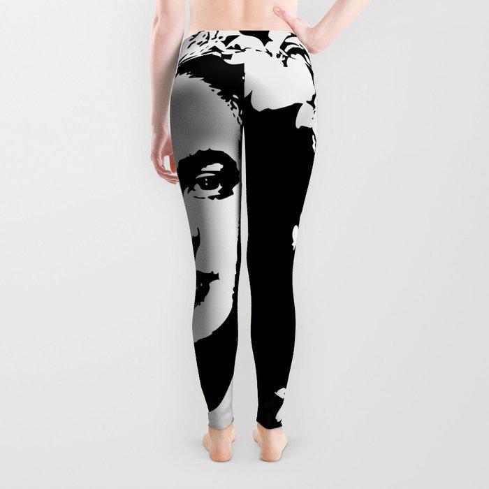 Black 'n white Frida Leggings