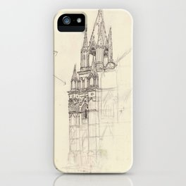 Santa Ana El Salvador Ink Drawing iPhone Case
