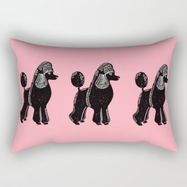 Black Standard Poodle Rectangular Pillow
