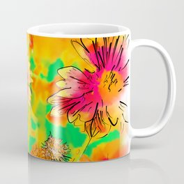Fall Flowers In Soft Abstract Coffee Mug