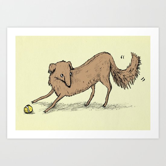 Playful Dog Art Print