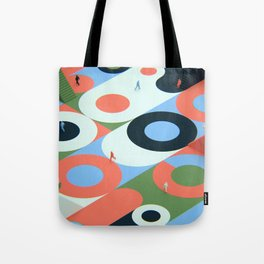 Circles and stairs Tote Bag