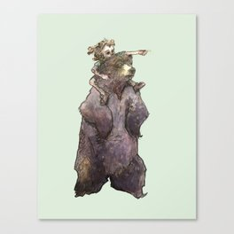 Bear King, a page from Luno! Canvas Print