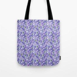 Blue velvety violets Tote Bag