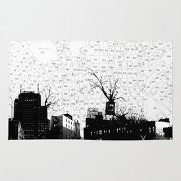 NYC splatterscape Rug