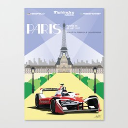 Mahindra Racing FIA Formula E Season Three Race 06 Paris ePrix Canvas Print