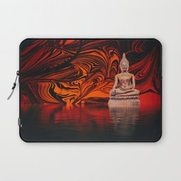 Buddha on a Lake of Fire and Water Laptop Sleeve
