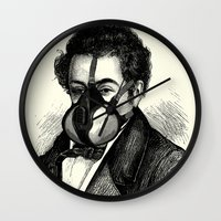 mask Wall Clocks featuring Mask by DIVIDUS