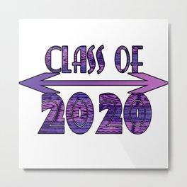 Class of 2020 Purple Tribal Print Design Class of 2020 Purple Tribal Print Design Metal Print
