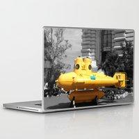 yellow submarine Laptop & iPad Skins featuring yellow submarine  by 33bc