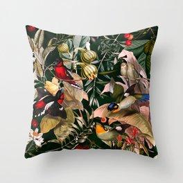 Floral and Birds XXV Throw Pillow