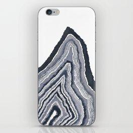 Monochromatic Geode - by Rachel Whitehurst iPhone Skin