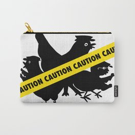 Police Hens Silhouette Carry-All Pouch