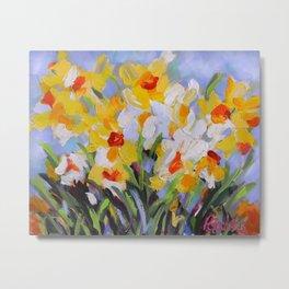 Daffodil Tangle Metal Print