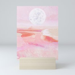pink moonrise Mini Art Print