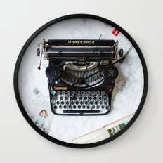 Typewriter Love. Wall Clock