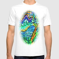 HIKERS REWARD White MEDIUM Mens Fitted Tee