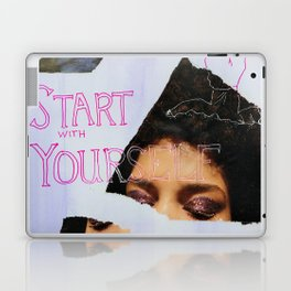 start with yourself Laptop & iPad Skin
