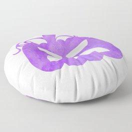 Halloween Watercolor Pumpkin Face Purple 4 Floor Pillow