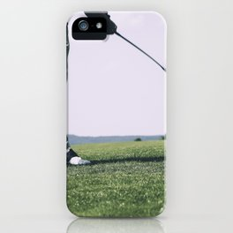 Golfer Driving iPhone Case