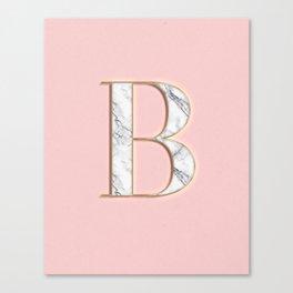 B letter monogram Canvas Print