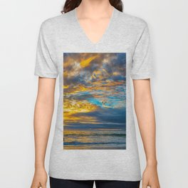 Sunset Sky Over Laguna II Unisex V-Neck