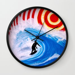 Concentric Surfing Wall Clock