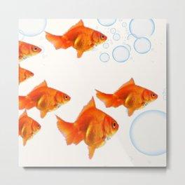 PET GOLD FISH  AQUARIUM ART DESIGN Metal Print