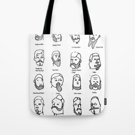 BEARDS!!! (available for t-shirts) Tote Bag