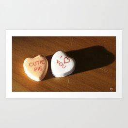 conversation heart love by cocoblue Art Print