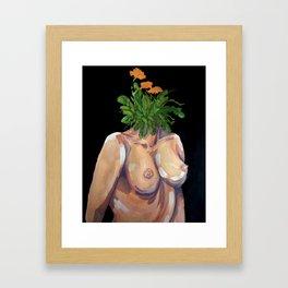 mind of weeds Framed Art Print