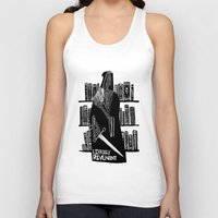 library Tank Tops featuring Library Revenant by Sam Mameli