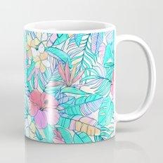 Pretty Pastel Hawaiian Hibiscus Print Mug