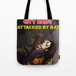 City Babe Attacked by Rat Tote Bag