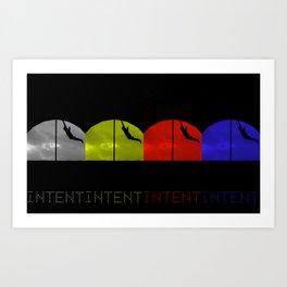 Intent x 4 Art Print