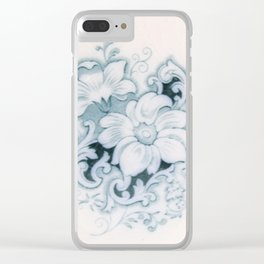 Vintage Flower Flow Clear iPhone Case