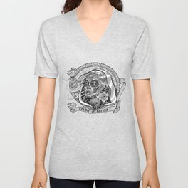 Black and White Catrina (Day of the Dead) Unisex V-Neck