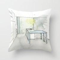 kitchen Throw Pillows featuring Kitchen by eckoepp