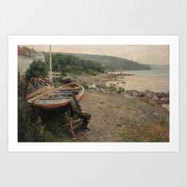 Hans Heyerdahl - View from Åsgårdstrand Art Print