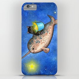 Hanging Stars with a Friendly Narwhal iPhone Case