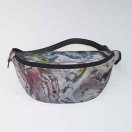 snow acrylic pouring Fanny Pack