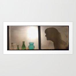 Carly Lamp Art Print