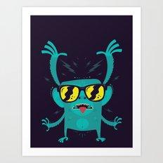 Cool monkey! Art Print